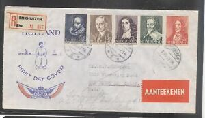 Netherlands 1947 Social & Cultural Charity Issue Registered FDC To USA