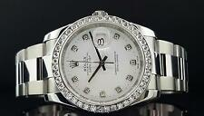 Rolex Datejust 36mm 116200 Steel White Gold Diamond Bezel Dial 2.35 CT New Style