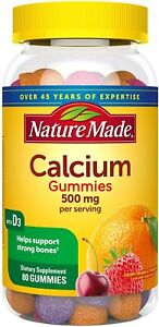 Nature Made Calcium 500 mg helps support Bone Strength with Vitamin D3 700...