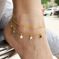 Gold Star Ankle Bracelet Women Anklet Adjustable Chain Foot Beach Pap Jewelry