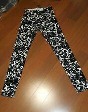 Abercrombie & Fitch Black White Floral Leggings. Sz XS. Retail $58