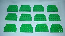 ***BULK LOT OF 12 NEW GREEN LEGO WEDGE PLATE 4 X 6, 4X6, CUT CORNERS***