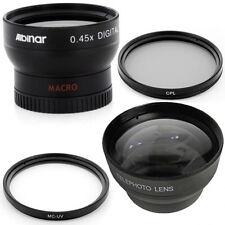 37mm Wide Angle Tele Lens Kit, CPL and MCUV for Olympus PEN E-PL1 E-PL2 E-PL3