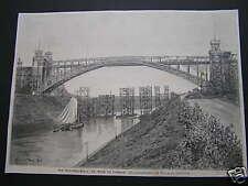 print  Kiel Brücke bei Levensau Deutschland stich