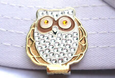 Owl Crystal Golf Ball Marker  with Bonus Magnetic Hat Clip