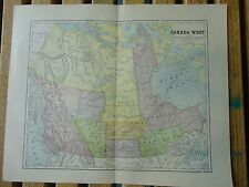 Nice colored map of Canada West.  Pub. in 1895 in The People's Cyclopedia.