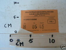 1983 TICKET DUTCH TT ASSEN 1983 GRAND PRIX,MOTO GP HOOFDTRIBUNE