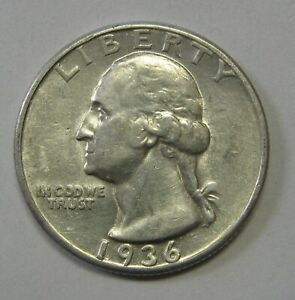 1936 Silver Washington Quarter in the AU Range Priced Right Shipped FREE