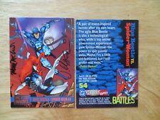 1995 DC VS MARVEL SPIDER-WOMAN CARD SIGNED 2X MARK MCKENNA & JIM CALAFIORE, POA