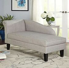 Chaise Lounge Chair Sofa Furniture Indoor Grey Lounges Storage Couch Settee