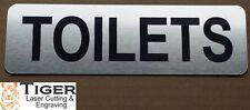 TOILETS Sign - 20CM X 6CM / 8 INCHES X 2.4 INCHES - TLC-012
