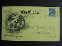 CANADA 1901 The Globe private advertising postcard, quite interesting, check it!