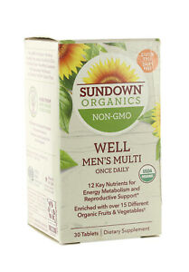 SUNDOWN ORGANICS ADULT MULTI VITAMIN MULTIVITAMIN 30 TABLETS - EXP 02/21