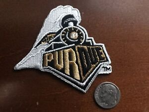 """PU Purdue Boilermakers Vintage Embroidered Iron On Patch (NOS) 3"""" x 3"""" APX"""