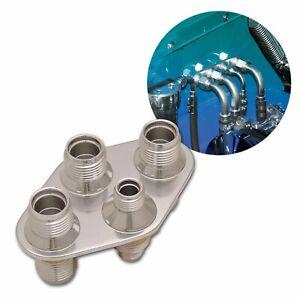 4 Port Air Conditioning Hose Fitting Heater Bulkhead 3-10AN 1-6AN AC universal