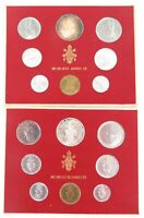 . 2 x UNC VATICAN COIN SETS. 1966 & 1977