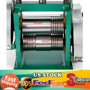 Manual Jewelry Press Rolling Mill Machine Wire Flat Metal Sheet Roller tool 85mm
