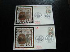 FRANCE - 2 enveloppes 1er jour 5/9/1987 (guillaume le conquerant) (cy45) french
