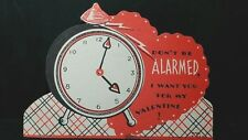 Vintage Die Cut Valentines Day Card Don'T Be Alarmed I Want You For My Valentine