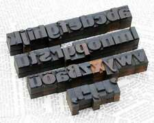 "A-Z alphabet 0.71"" letterpress wooden printing blocks wood type vintage printing"