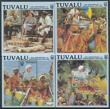1988 TUVALU INDEPENDENCE 10th ANNIVERSARY SET OF 4 M/SHEETS FINE MINT MNH