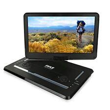 "15"" Portable DVD Player HD CD Player,Swivel Widescreen,USB/SD Card Reader -Black"