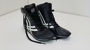 Everlast Black and White Boy's Boxing Shoes Size 6.5 in Men's 55-50150-4-02 A675