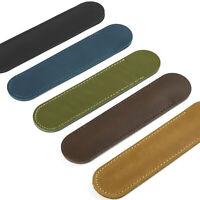 STIFTEETUI LEDER Schreibgeräte Etui für 1Stifte Verschlusslasche 5 Farben