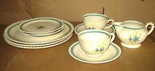 VTG 12pcs SET Westwood Together Underglaze Coffee Tea White Floral Ceramic China