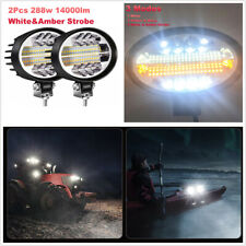 """Pair 5"""" Spot Flood Combo Strobe Work/Fog/Driving Lights For Off-Road Truck Jeep"""