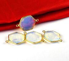 Excellent Opalite Gemstone Choker Bohemian Pendant Connector Boho Jewelry 4pc