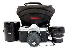 ASAHI PENTAX K1000 35MM CAMERA W/ PENTAX 1.2 / 50MM &  SIGMA 1:2.8 / 24MM LENS