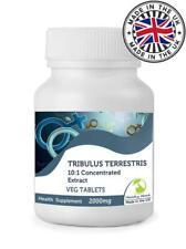 Tribulus Terrestris 2000mg 10:1 Extract Veg 90 Tablets UK Pills