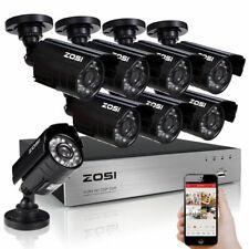 1500TVL Outdoor 960H Night Vision Security Camera System ZOSI 8CH 1080P CCTV
