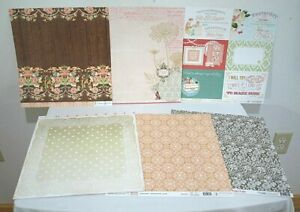 Webster's Pages Growing Up Girl 12 x 12 Paper Set of 6 Double Sided Card Stock