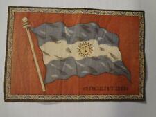 Vintage Felt Cigarette Cigar Flags, Argentina, Blue & White w/Sun on Red