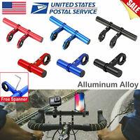 MTB Bicycle Handlebar Extender Mount Bracket Bike Extension Flashlight Holder US