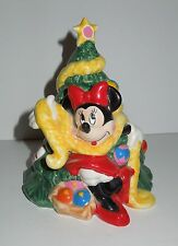 Enesco Mickey & Co. Minnie Mouse Holiday Bank Decorating Christmas Tree