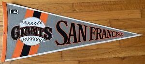 """Vintage 1980's MLB San Francisco Giants New Old Stock Felt Pennant 29"""" X 12"""""""