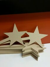 3 x MDF Star Wands 30cm Long 10cm Star on 4mm