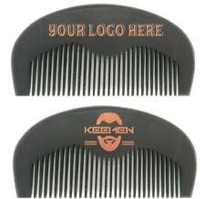 Custom LOGO-Beard Care Comb Fine Tooth Black Beard Combs Wooden Comb Makeup Sale