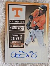 Christin Stewart 2015 Panini Contenders Playoff Ticket Auto Card #11/15