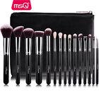 MSQ Professional 15PCs Makeup Brush Set Powder Cosmetic Tool Synthetic Bag Black