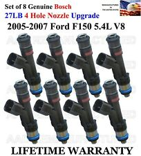 27LB Upgrade Set Of 8 OEM Bosch4 Hole Fuel Injectors For 2005-07 Ford F150 5.4L