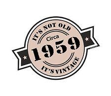 Non è vecchio intorno al 1959 ROSETTA Emblema PER CASCO DA MOTO AUTO ADESIVO VINILE