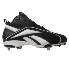 New Youth Reebok Vero Mid TPU Baseball Cleats Black/White Size 2