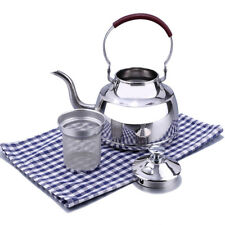 1L Stainless Steel Teapot Tea Pot Coffee W/ Leaf Filter Strainer Infuser Kettle