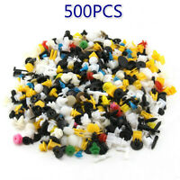 500x Car Plastic Clips Fastener Mix Auto Trim Panel Retainer Push Rivet Hole ZEN