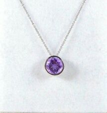 1.75 ct Genuine Purple Amethyst 925 Sterling Silver Floating Solitaire Necklace
