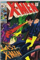 X Men #59 ORIGINAL Vintage 1969 Marvel Comics Neal Adams Sentinels